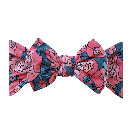 BABY BLING PRINTED KNOT HEADBAND IN PEONY GARDEN