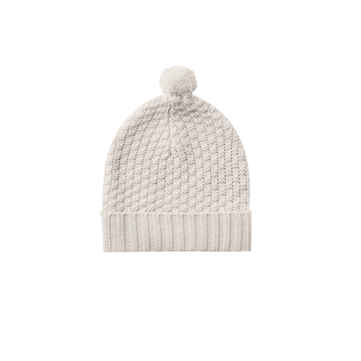 QUINCY MAE ORGANIC SWEATER KNIT POM POM BEANIE
