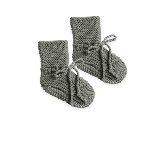 QUINCY MAE ORGANIC SWEATER KNIT BABY BOOTIES