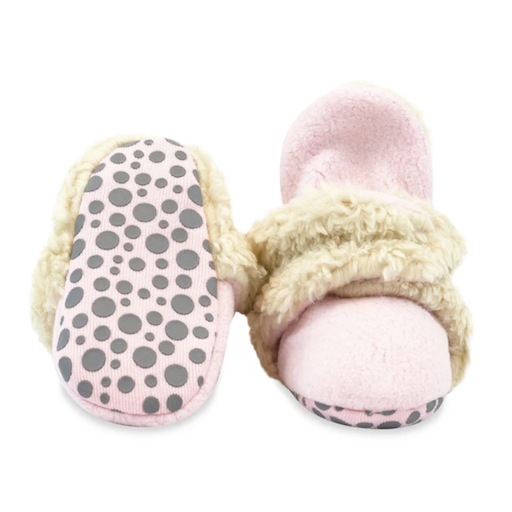 ZUTANO ZUTANO COZIE FLEECE FURRY LINED BOOTIE WITH GRIPPERS