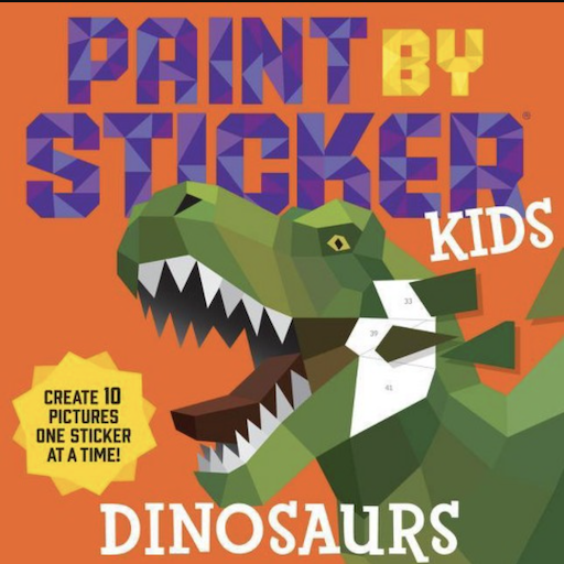WORKMAN PAINT BY STICKER KIDS DINOSAURS