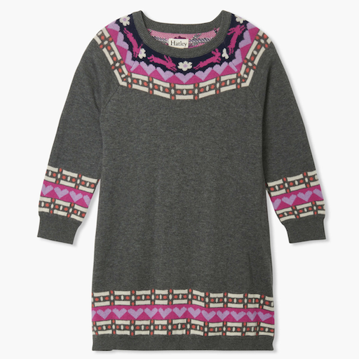 HATLEY CHARCOAL MELANGE SWEATER DRESS