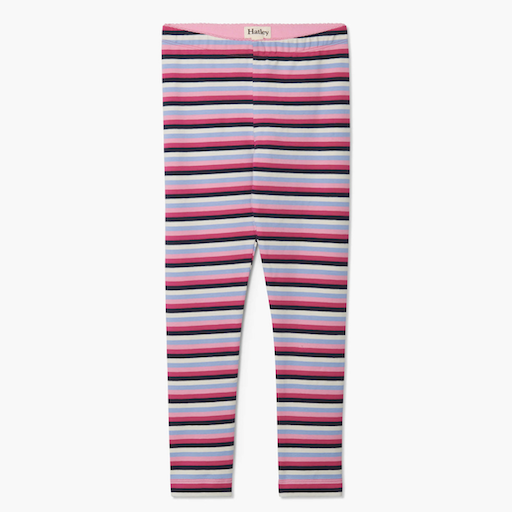 HATLEY PINK DENIM STRIPE LEGGINGS