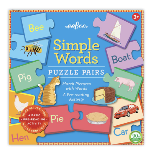 EEBOO SIMPLE WORDS PUZZLE PAIRS