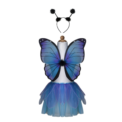 MIDNIGHT BUTTERFLY TUTU WITH WINGS AND HEADBAND
