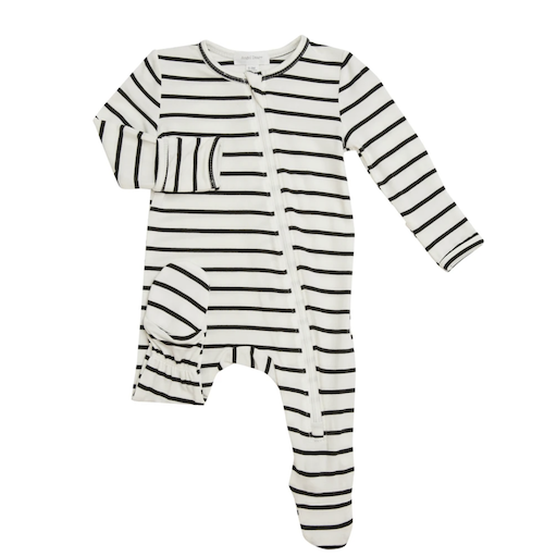 ANGEL DEAR STRIPES ZIPPER FOOTIE