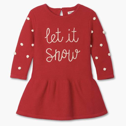 HATLEY LET IT SNOW BABY SWEATER DRESS