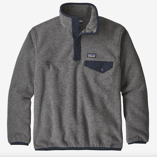 PATAGONIA BOYS LIGHTWEIGHT  SYNCHILLA SNAP-T  FLEECE PULLOVER