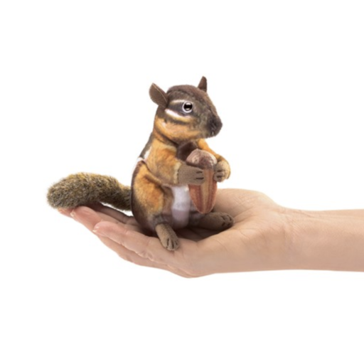 FOLKMANIS MINI CHIPMUNK WITH ACRON PUPPET