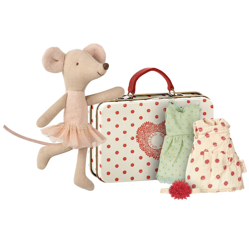 MAILEG BALLERINA MOUSE WITH 2 DRESSES