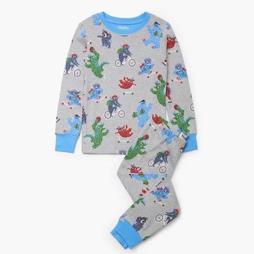 HATLEY BACK TO SCHOOL MONSTERS ORGANIC COTTON PAJAMAS SET