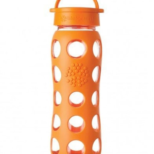 LIFEFACTORY 22 OZ GLASS BOTTLE WITH SLEEVE-ORANGE