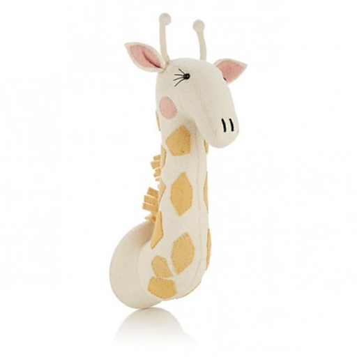 FIONA WALKER FIONA WALKER ENGLAND GIRL GIRAFFE WITH EYELASHES WALL MOUNT