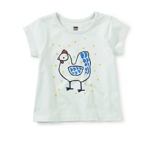 TEA CHICKEN LITTLE GRAPHIC TEE COCK-DOODLE