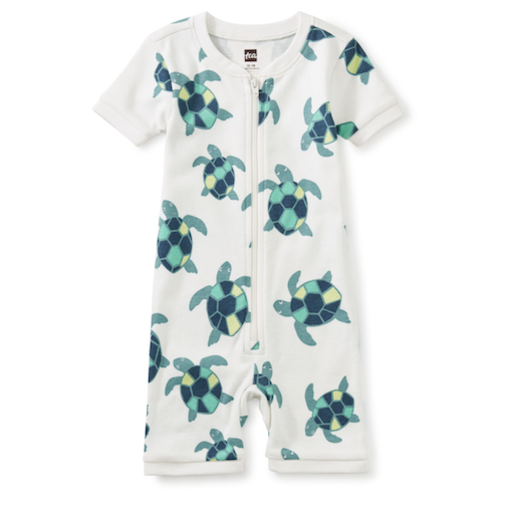 TEA ROCKABYE BABY SHORT SLEEVE PAJAMAS IN TINY TURTLES