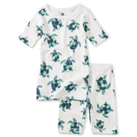 TEA IN YOUR DREAMS PRINTED SHORTS PAJAMA SET IN TINY TURTLES