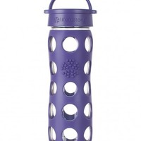 LIFEFACTORY 16 OZ GLASS BOTTLE WITH SLEEVE-ROYAL PURPLE