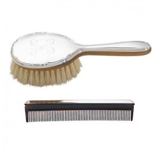 REED & BARTON CAROLINA GIRL'S STERLING SILVER BRUSH & COMB SET