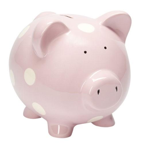 ELEGANT BABY CLASSIC PINK PIGGY BANK