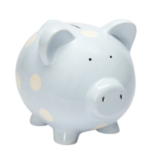 ELEGANT BABY CLASSIC BLUE PIGGY BANK