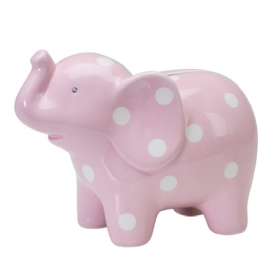 ELEGANT BABY CERAMIC PINK ELEPHANT BANK