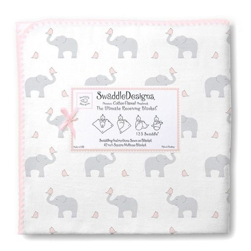 SWADDLE DESIGNS ELEPHANTS & CHICKIES ULTIMATE  RECEIVING BLANKET