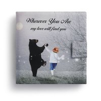 DEMDACO WHEREVER YOU ARE MY LOVE WILL FIND YOU SOFT STORY BOOK