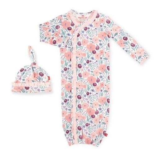 MAGNETIC ME MAYFAIR ORGANIC COTTON MAGNETIC GOWN & HAT SET