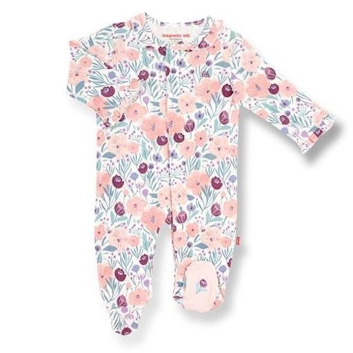 MAGNETIC ME MAYFAIR ORGANIC COTTON MAGNETIC FOOTIE