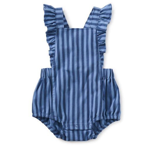 TEA RUFFLE BUBBLE ROMPER