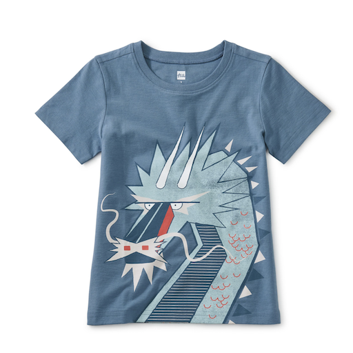 TEA DOUBLE-SIDED DRAGON TEE