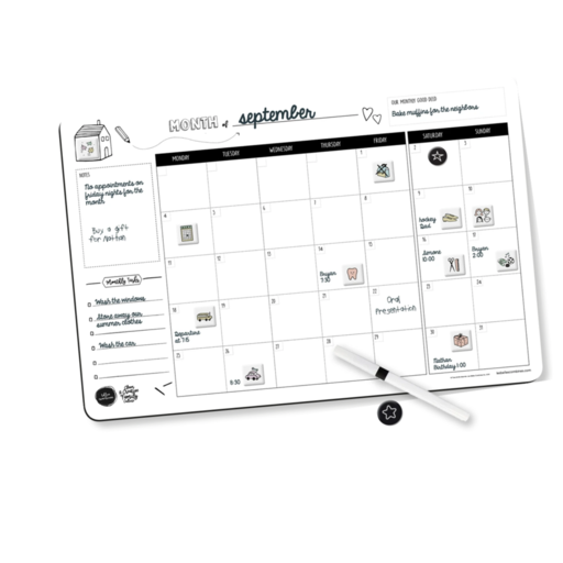 BELLES COMBINES MONTHLY FAMILY PLANNER