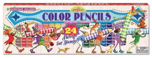 EEBOO 24 STRIPED BIGGIE COLOR PENCILS