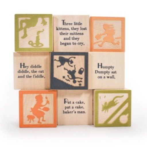 UNCLE GOOSE NURSERY RHYME 9 BLOCKS SET