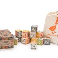 UNCLE GOOSE CLASSIC ABC BLOCKS WITH CANVAS TOTE