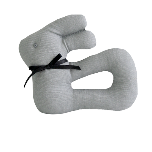 ALIMROSE MY FIRST BUNNY RATTLE - GREY LINEN