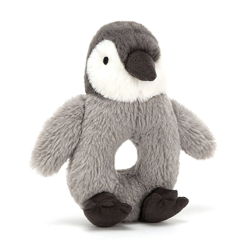 JELLYCAT INC BASHFUL PERCY PENGUIN RING RATTLE
