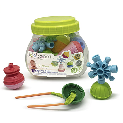 JANOD LALABOOM BUCKET SET 19PC EDUCATIONAL BEAD