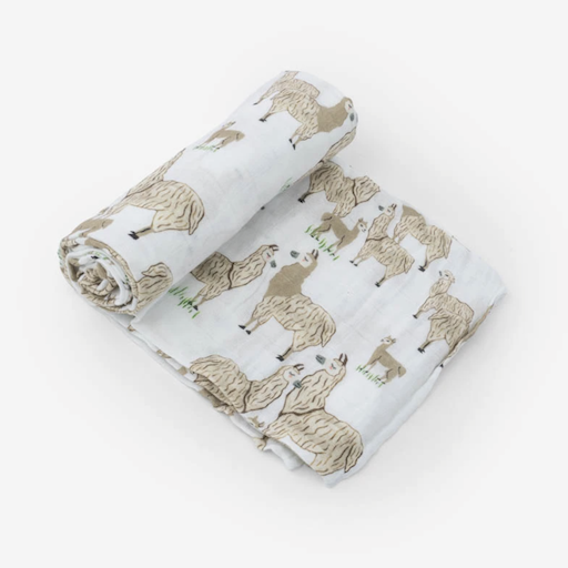 LITTLE UNICORN LLAMA LLAMA  COTTON MUSLIN SWADDLE SINGLE
