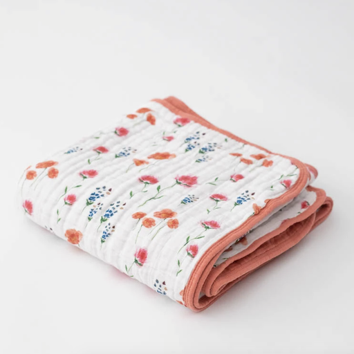 LITTLE UNICORN WILD MUMS COTTON MUSLIN QUILT