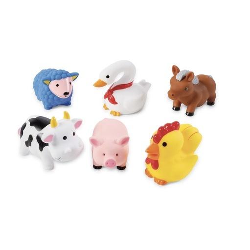 MUD PIE FARM ANIMAL RUBBER BATH TOY