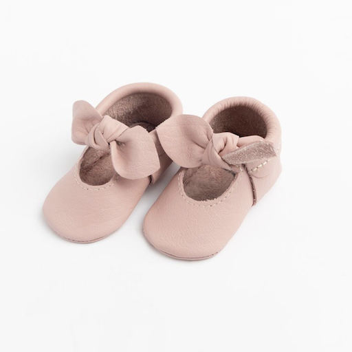 FRESHLY PICKED BLUSH KNOTTED BOW MOCC
