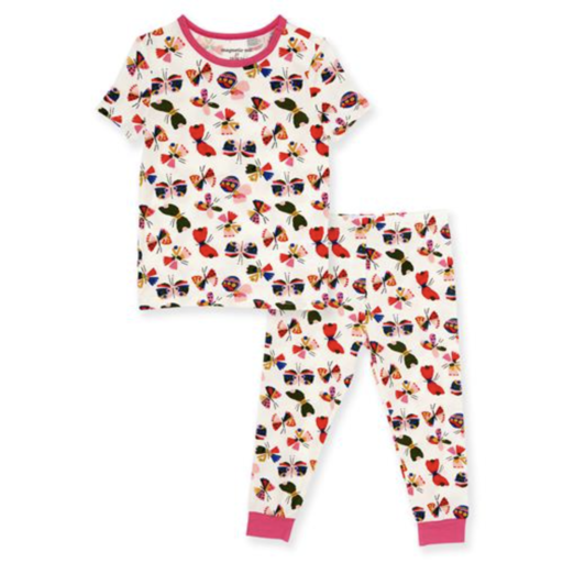 MAGNETIC ME FLITTER FLUTTER MODAL MAGNETIC 2 PIECE TODDLER PAJAMAS