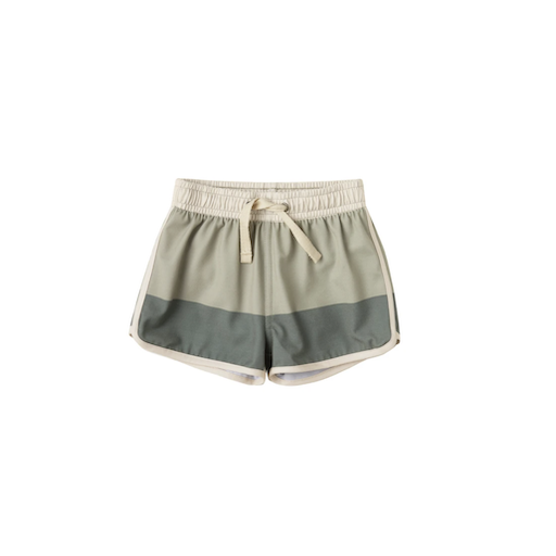 RYLEE AND CRU COLORBLOCK SWIM TRUNK