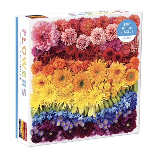 CHRONICLE BOOKS FLOWERS 500 PIECE PUZZLE