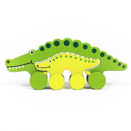 JACK RABBIT CREATIONS BIG AND LITTLE GATOR PUSH TOY