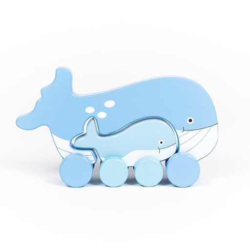 JACK RABBIT CREATIONS BIG AND LITTLE WHALE PUSH TOY