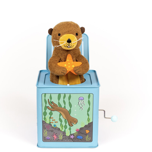 JACK RABBIT CREATIONS OTTER JACK-IN-THE-BOX