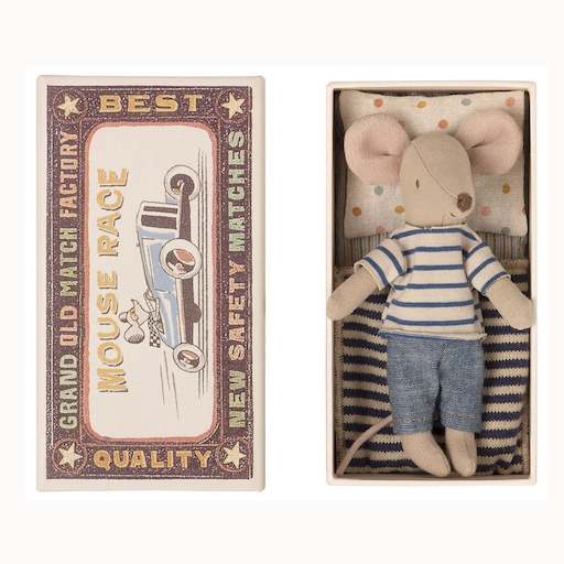 MAILEG MATCHBOX MICE-BIG BROTHER IN DAY WEAR