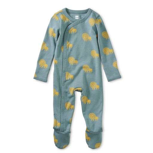 TEA SIDE SNAP FOOTED BABY ROMPER